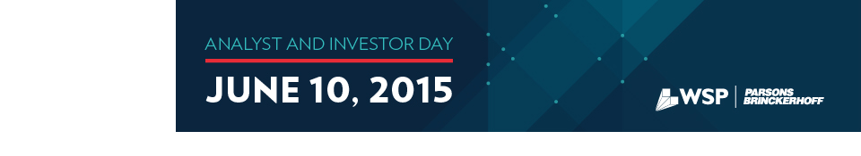 2015 Analyst and Investor Day